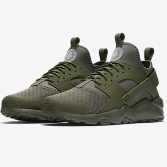 Nike Air Huarache Ultra Run Black Army Green Canada